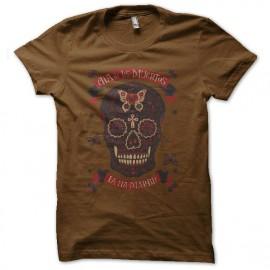 shirt dias del muerto brown