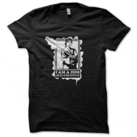 stencil negro Tee Shirts Jedi Luke Skywalker