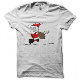 Tee Shirt Père Noël avec monstre dans sa hotte
