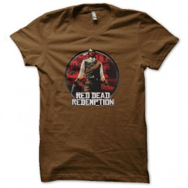 shirt red dead redemption brown