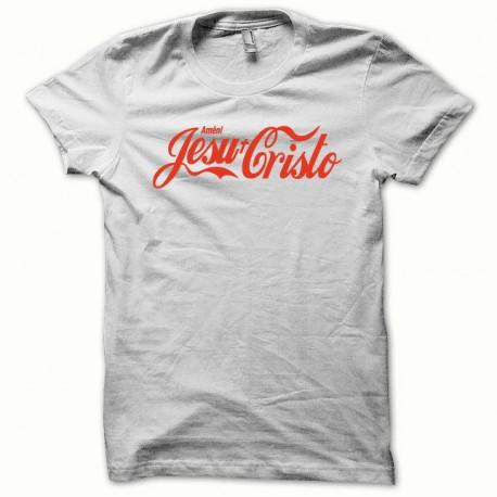 Tee shirt Jesu-Christo orange/blanc