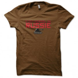 tee shirt c'est normal en russie marron