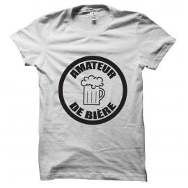 Tee shirt Amateur de bière blanc