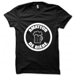 Tee shirt Amateur de bière noir