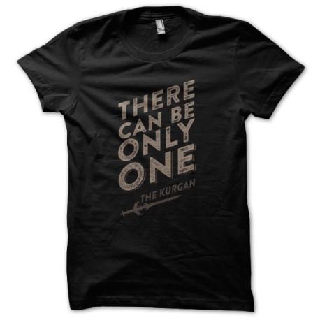 Black Tee Shirt Highlander Quote