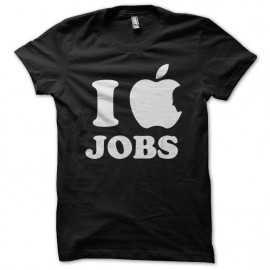 tee shirt I love jobs black