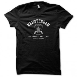University Tee Shirt Baltimore Hamsterdam the wire - black