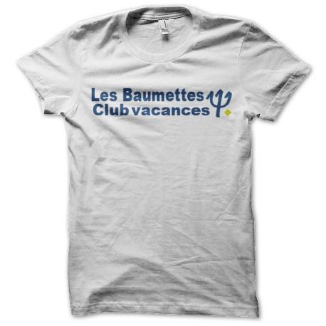 tee shirt les baumettes prison parodie club med blanc