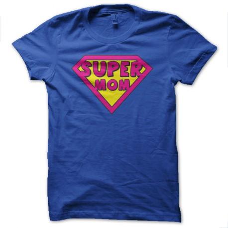 supermom camiseta azul parodia de Superman