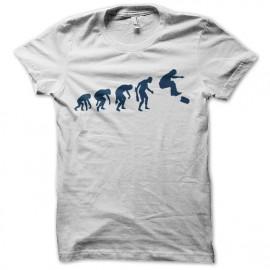 camiseta blanca Evolución skater