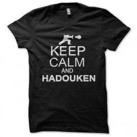 camisa y mantener la calma negro Hadouken