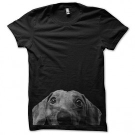 black tee shirt design dog funny