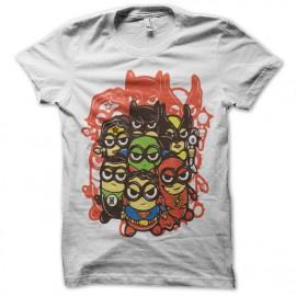 tee shirt super hero Minions blanc