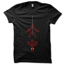 diseño de la camisa del hombre araña negro
