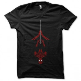 tee shirt spiderman design noir