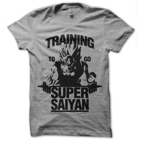 tee shirt Training to go super saiyan gris