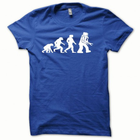 Tee shirt Lego Evolution blanc/bleu royal