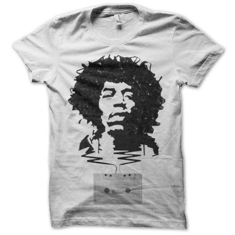 Jimi Hendrix T Shirt Cassette Tape Art White