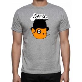 Catwork naranja camisa gris
