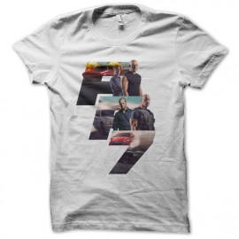 tee shirt fast and furious 7 blanc