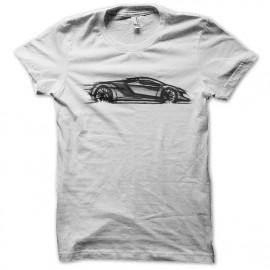 supercars camiseta blanca del arte