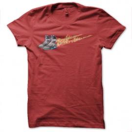 tee shirt nike air mcfly retour vers le futur rouge