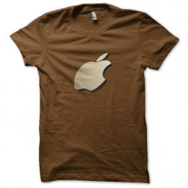 3D manzanas camisa marrón