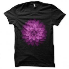 Camiseta de la flor negro camisa