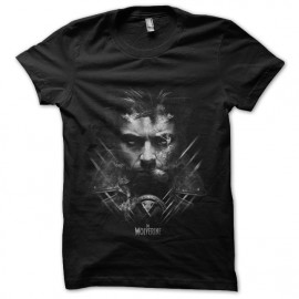 tee shirt the wolverine noir