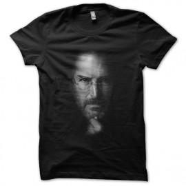 black tee shirt steve job