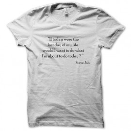 tee shirt steve job epigram  blanc