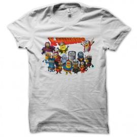 white t-shirt x minions