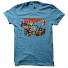x t-shirt minions blue sky