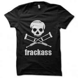 camiseta del negro de la camisa frackass