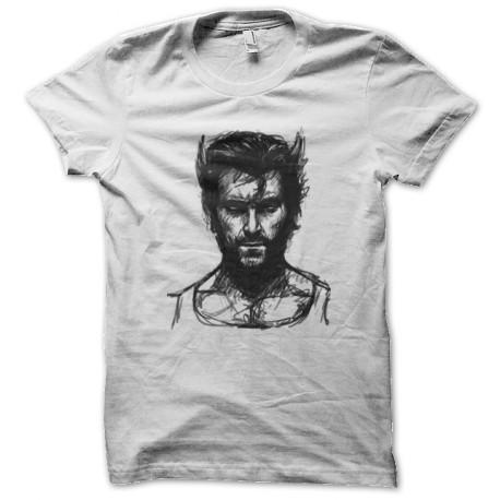 Wolverine sketch white shirt