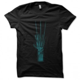 tee shirt claw X-ray noir