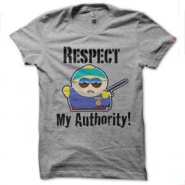 tee shirt respect my gray autority