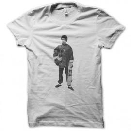 shirt Bruce Lee white skate sliding