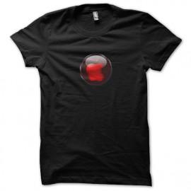 camisa roja manzana negro