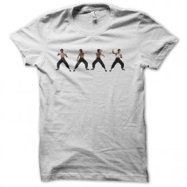 tee shirt bruce lee évolution blanc