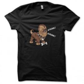 camiseta del negro de la camisa Chewbacca
