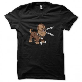 tee shirt chewbacca noir