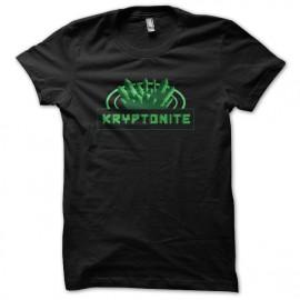 camiseta del negro de la camisa Cryptonite