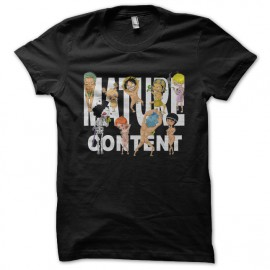 camisa de color negro de una pieza Hentai