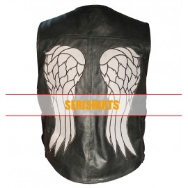 sons of anarchy genuine leather jacket and embroidered patches