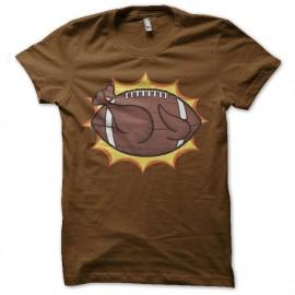 camisa de la bola americana del pollo de Brown