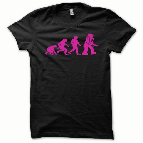 Tee shirt Lego Evolution rose/noir