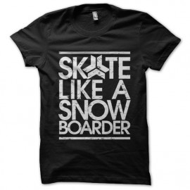shirt skete like a black snow boarder