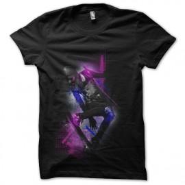 diseño de la camisa del monopatín negro