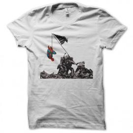 camisa del hombre araña blanca divertida